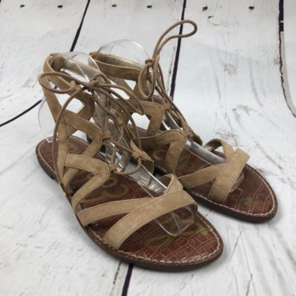 610b9119f Sam Edelman Shoes | Sz 8 Caramel Gemma Gladiator Sandals | Poshmark